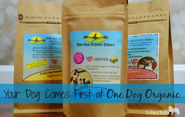 One Dog Organic Bakery sells healthy, wholesome dog treats just for your dog.