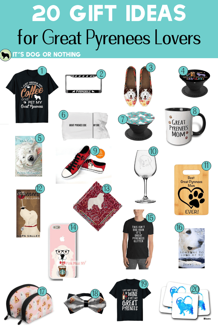 Do you need a gift for the Great Pyrenees lover in your life? Here our 20 gift ideas to please any pyr lover!